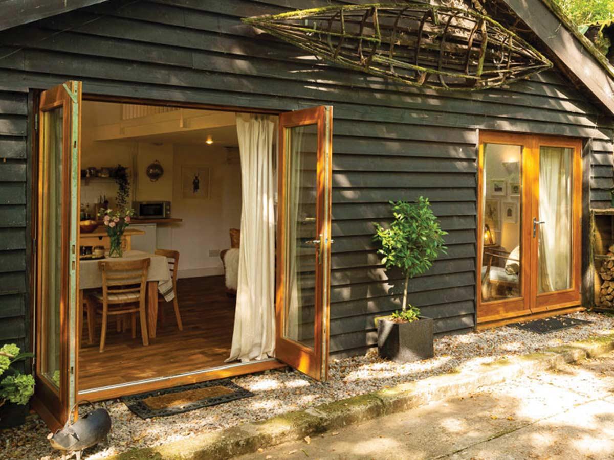 big wooden garden house